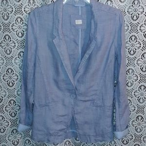 POETRY LIGHT BLUE LINEN BLAZER